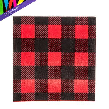 ~ Party Supplies Serviettes 16 1st BIRTHDAY Little Lumberjack LUNCH NAPKINS