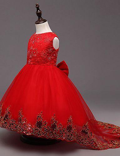 Vestidos de fiesta de nina color rojo