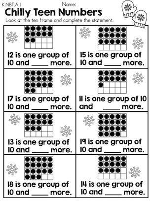 Winter Math Worksheets Kindergarten Kinder Pinterest Math