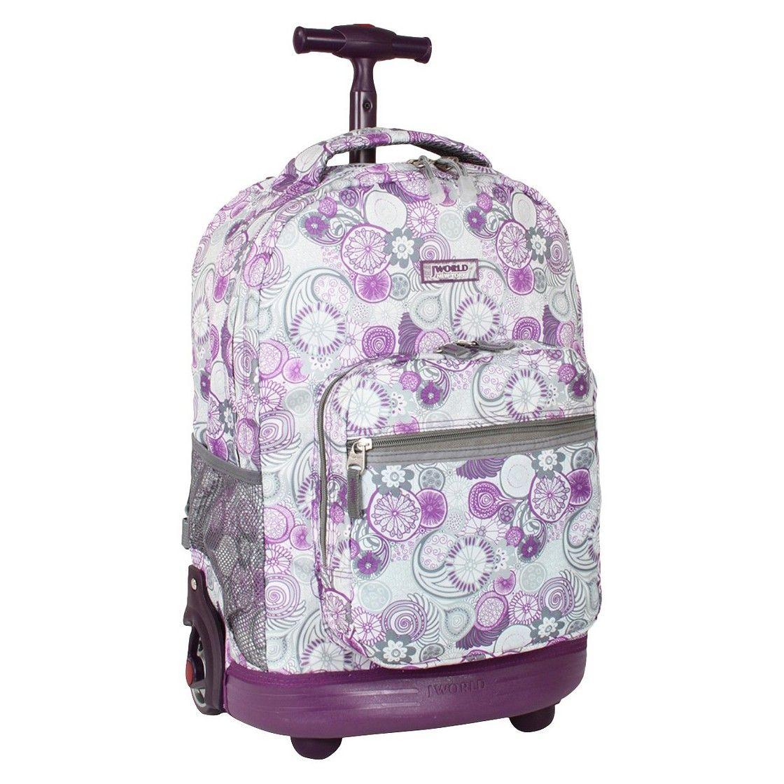 J World Sunrise Rolling Backpack - Lemon | School stuff ...