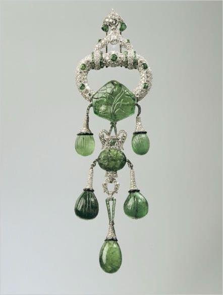 Marjorie Merriweather's  Cartier diamond and emerald brooch.