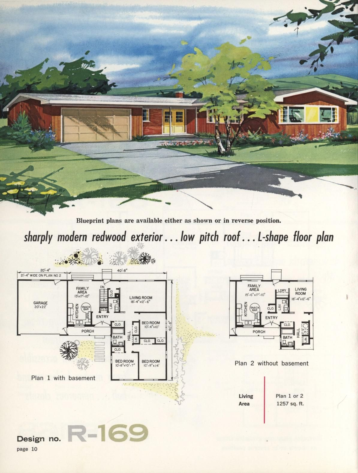 1960 Split-Level Ranch House Plans