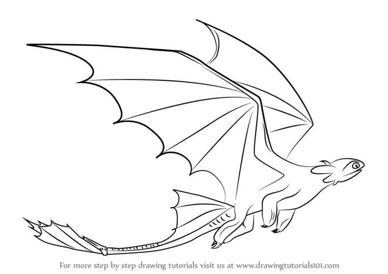 Learn How to Draw Toothless Flying from How to Train Your ...