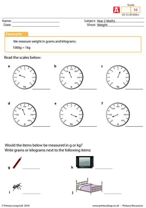 PrimaryLeap.co.uk - Weight Worksheet   worksheets ...