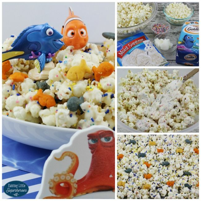 How To Make Finding Dory Cake Mix Popcorn Recipe Dory cake