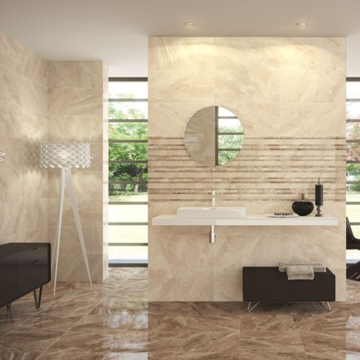 Nairobi cream tiles are beautiful large wall tiles with co for Beige and black bathroom ideas