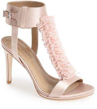 8f45187fc3a BCBGMAXAZRIA  Ma-Limbo  Fringe T-Strap Satin Sandal  bcbg  pink  sandals   fringe  boho  glam  fashion  shoes