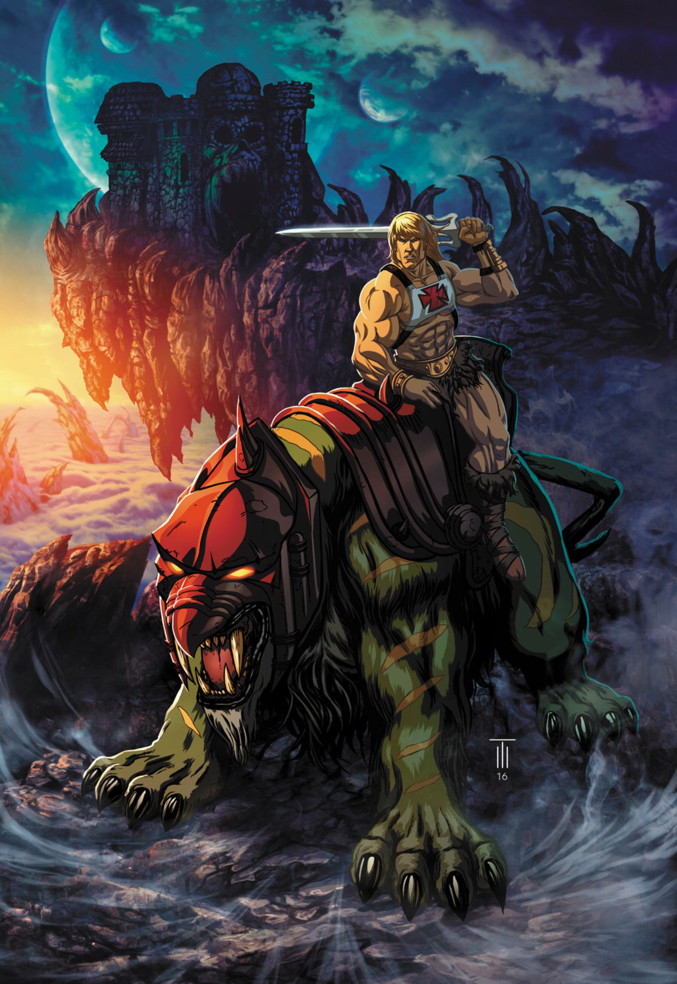 Adult Cd Universe he-man and battle cat: powercon 2016 - masters of the