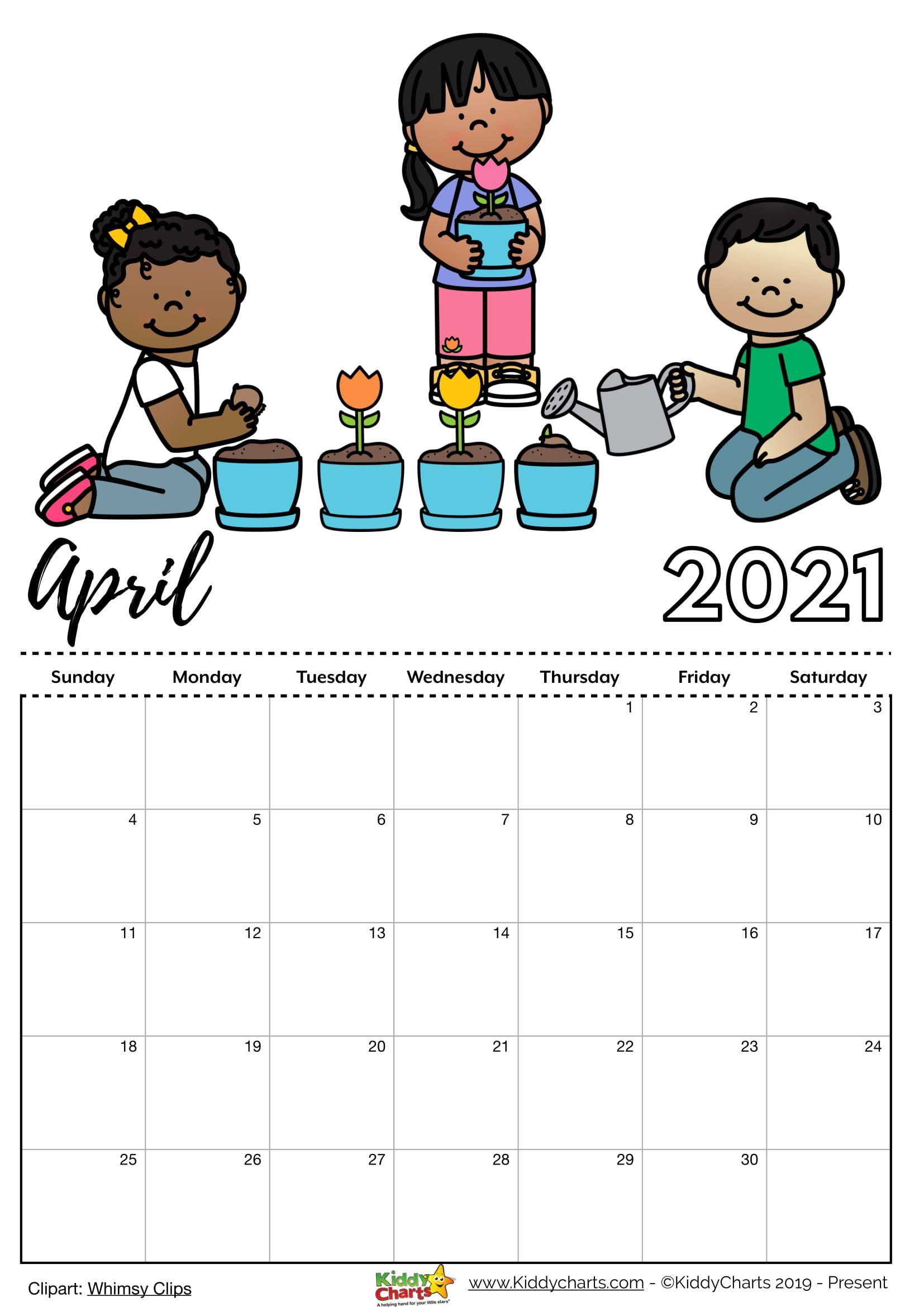 20+ April 2021 Calendar Clipart - Free Download Printable ...