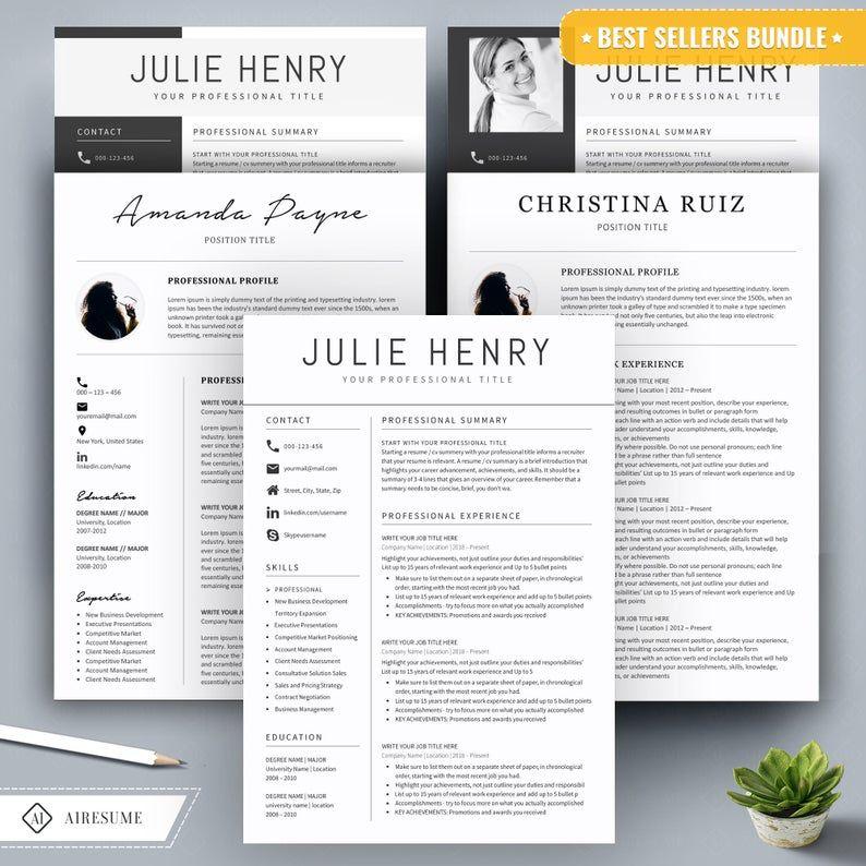 Resume Template Word, CV Template, Cover Letter, Teacher