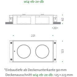 Photo of Mawa Design Wittenberg 4.0 wi4-eb-2e-db Einbaustrahler weiß matt (ral 9016) 12° (spot) neutralweiß (