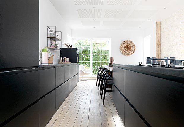 Met Zwart Keuken : Houten keuken zwart stalen frame google zoeken keuken