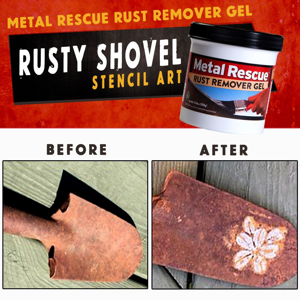 Metal Rescue® Rust Remover GEL   On the Spot Rust Removal