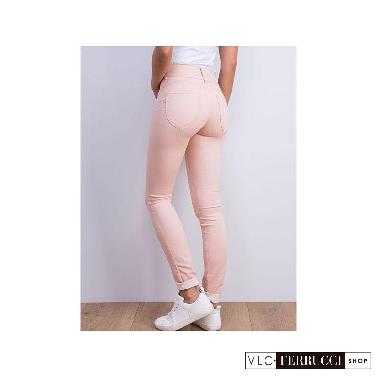 92a9d79101bd Jeans pitillo color rosa palo de talla unica (one size) con efecto ...
