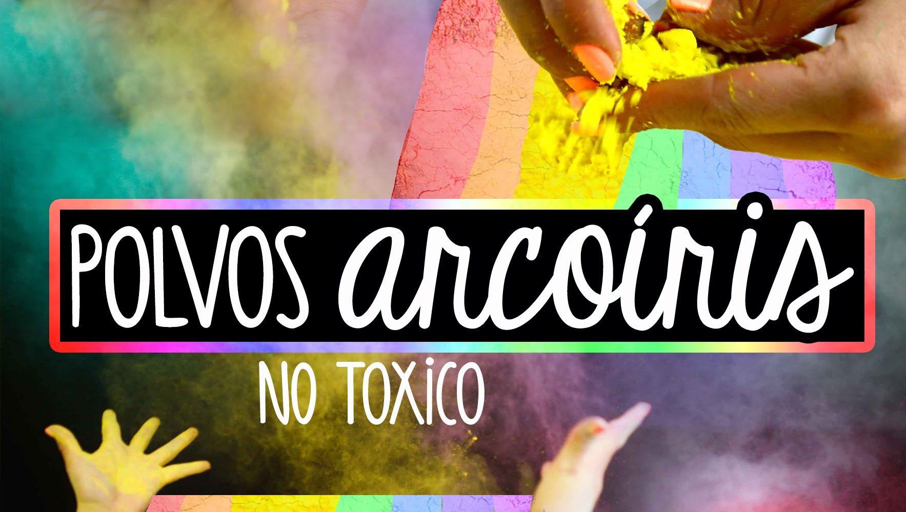 Cómo hacer polvos arcoiris caseros FÁCIL / Holi NO Toxico ...