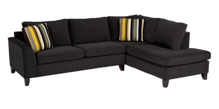 Sectional 194 In Bella Onyx Stanton Furniture Furniture Sectional