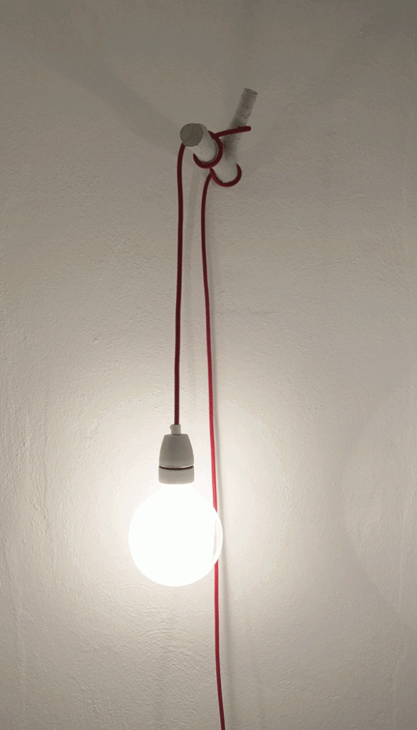 Cherry hook textile cable lamp light plug in wall - Lights to hang on wall ...
