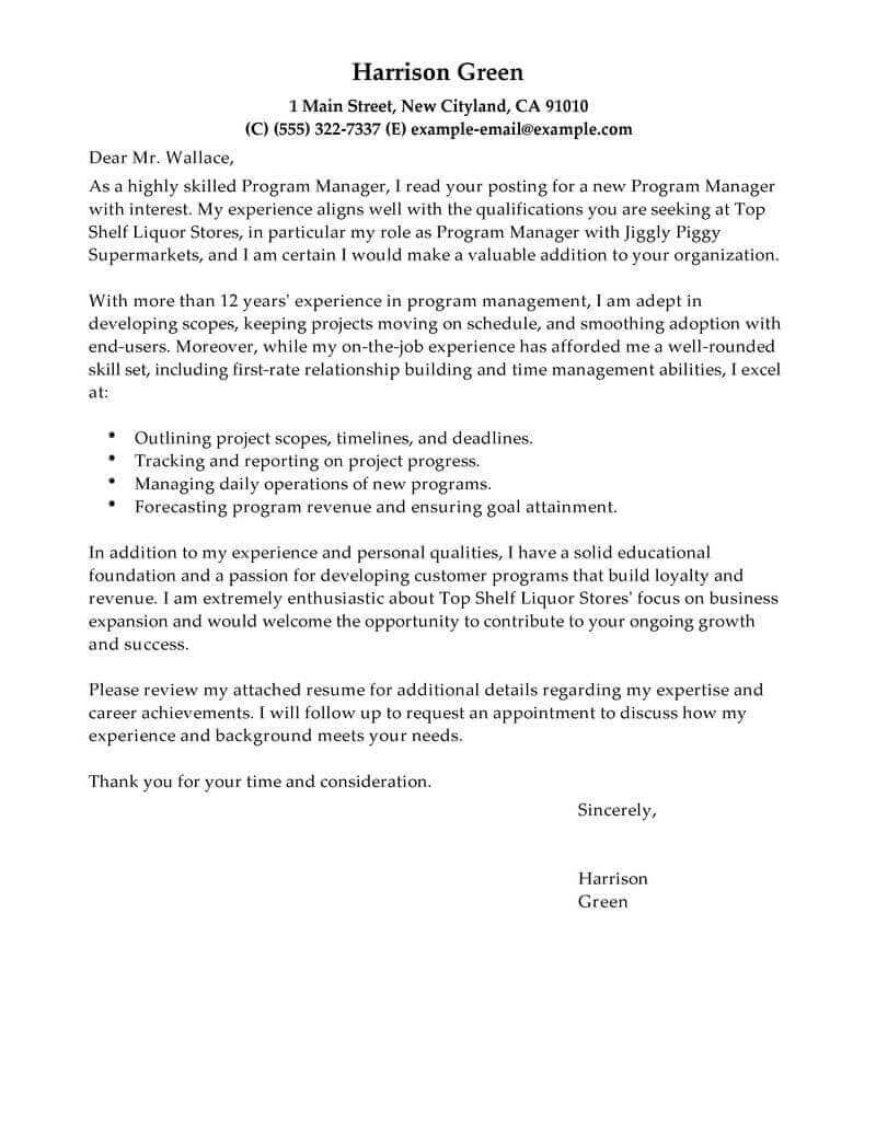 30 Cover Letter Example Cover Letter For Resume Job Cover Letter Cover Letter Example