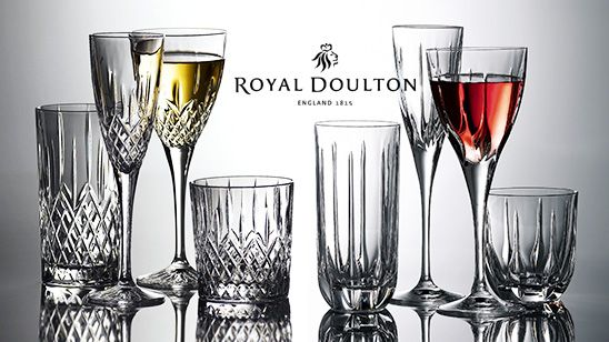 big sale on stunning royal doulton crystal glassware from go to sale