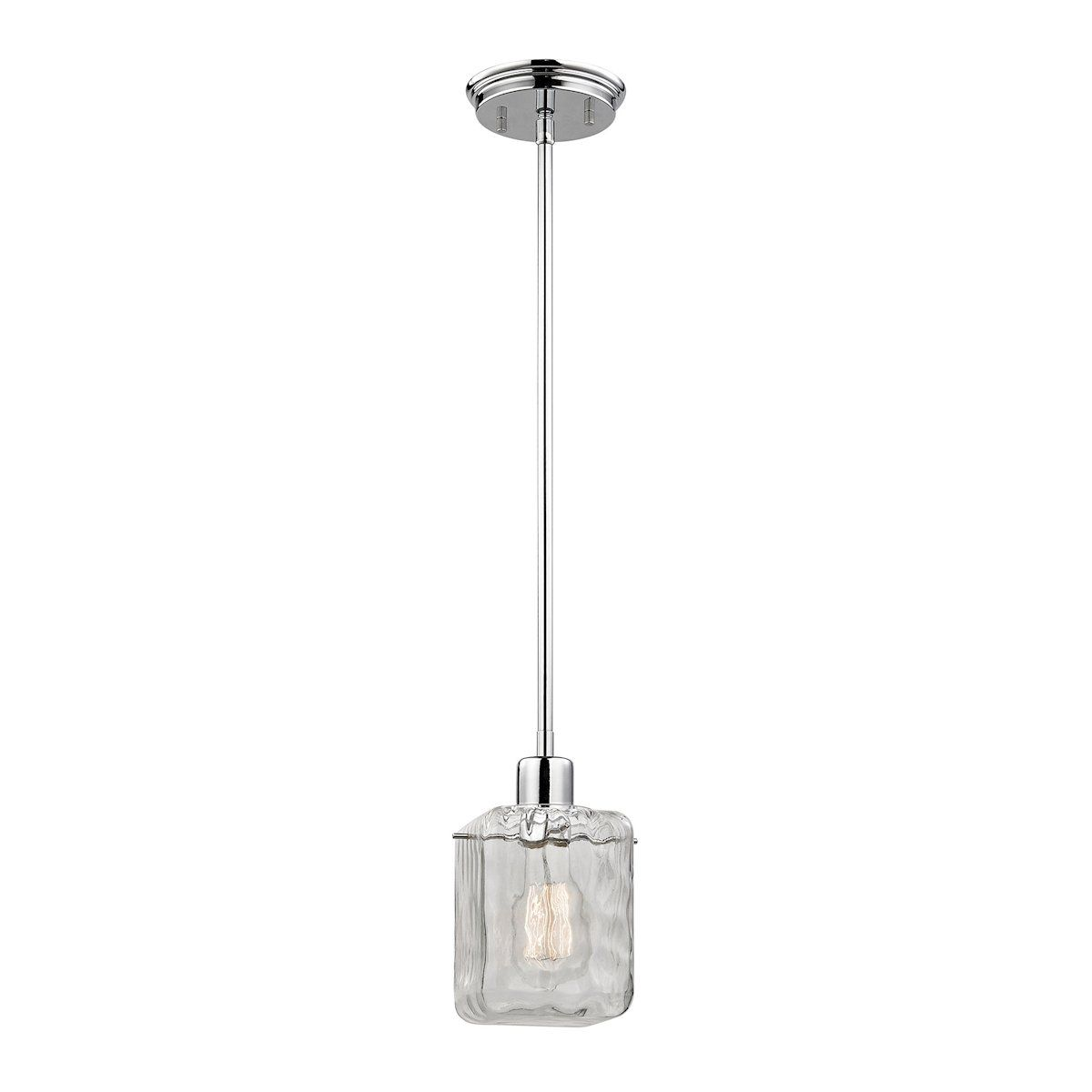 watercube 1 light pendant in polished chrome by elk lighting group