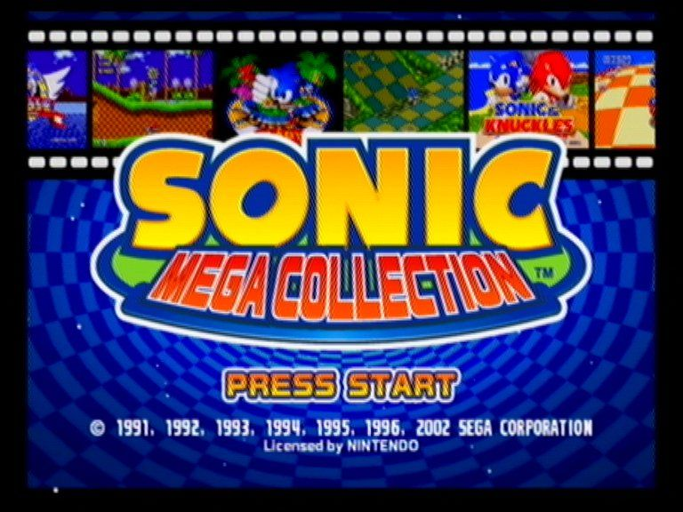 Sonic Mega Collection Title Screen Video Game Music Sonic Music