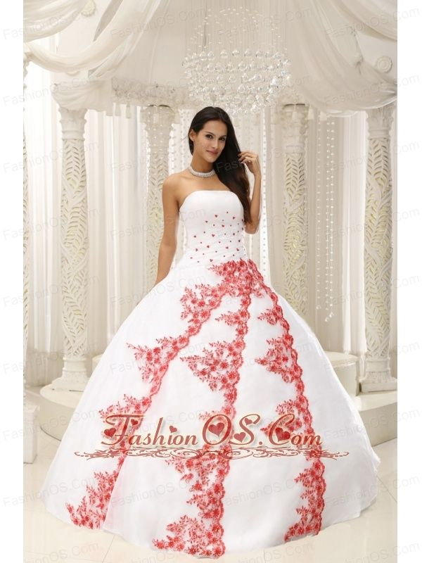 2c53e411d72 Beautiful Embroidery White Ball Gown 2013 Quinceanera Dress For Formal  Evening Taffeta and Organza http