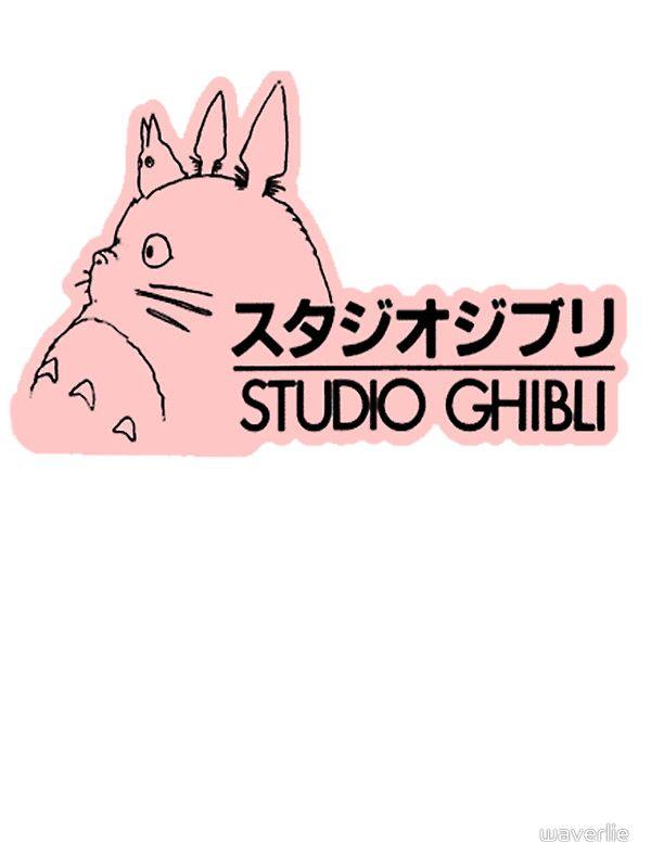 Pink Studio Ghibli Logo By Waverlie Studio Ghibli Ghibli Logo Sticker