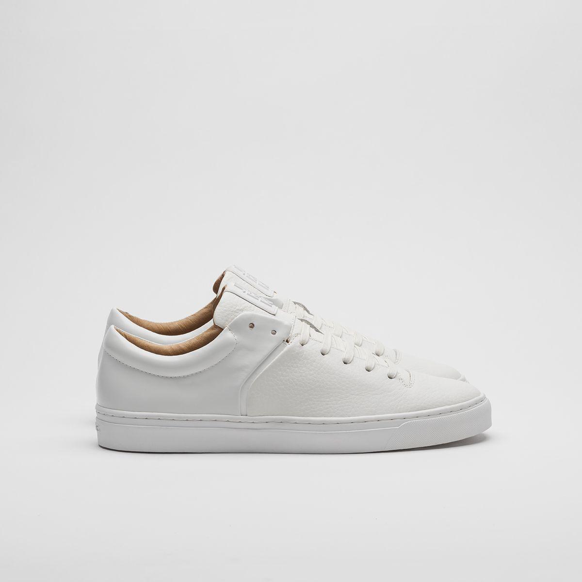 Jim Rickey Cloud - Premium Leather Full White Sneaker, Size 12/46