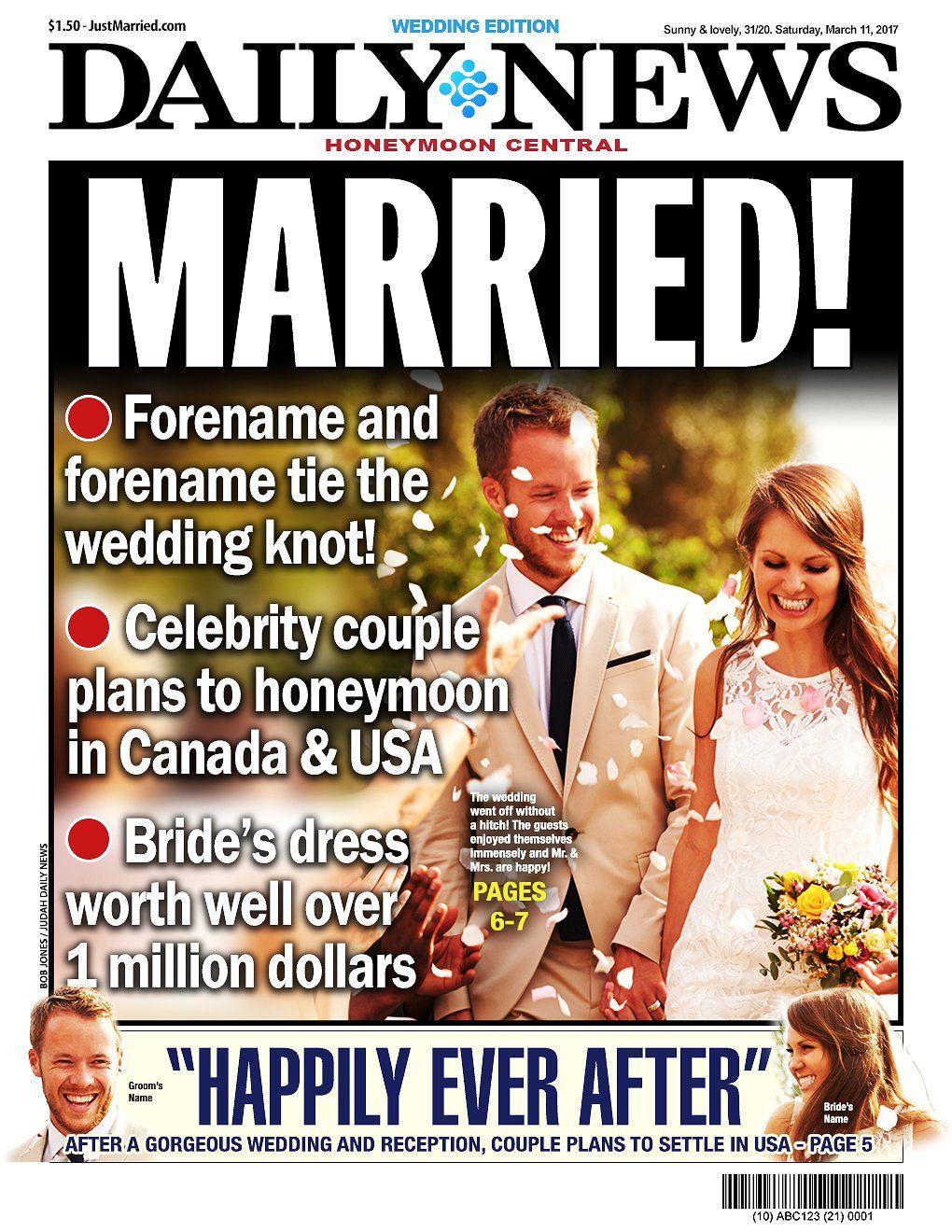 Wedding Edition White Bg G 7 Newspaper Templates 50 Off