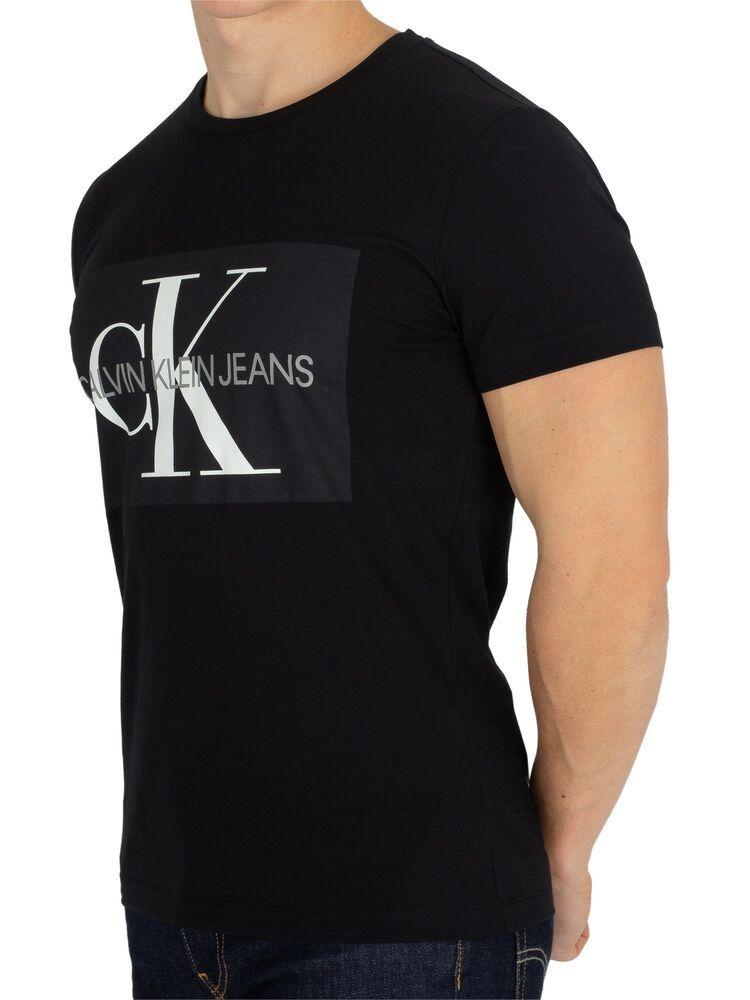 Calvin Klein Jeans Men S Ck Pixel Puff Graphic Print Logo T Shirt Mens Tops Casual Black Tee Men Tshirt Design Men