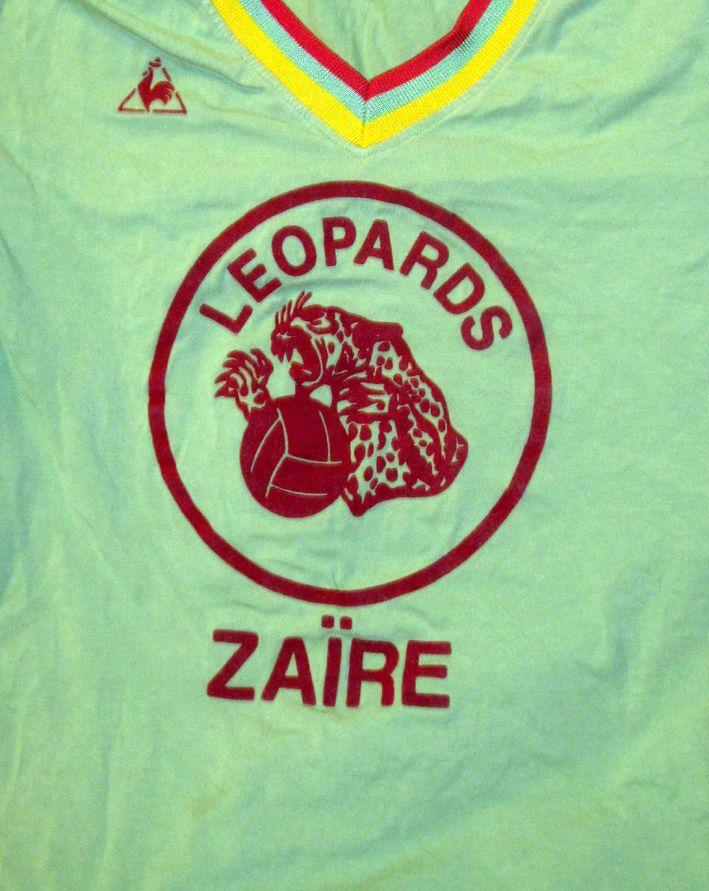2c5f4269ebe Maillot Léopards Zaire 1974 Football Shirt Ancien Vintage VTG Jersey COQ  Sportif