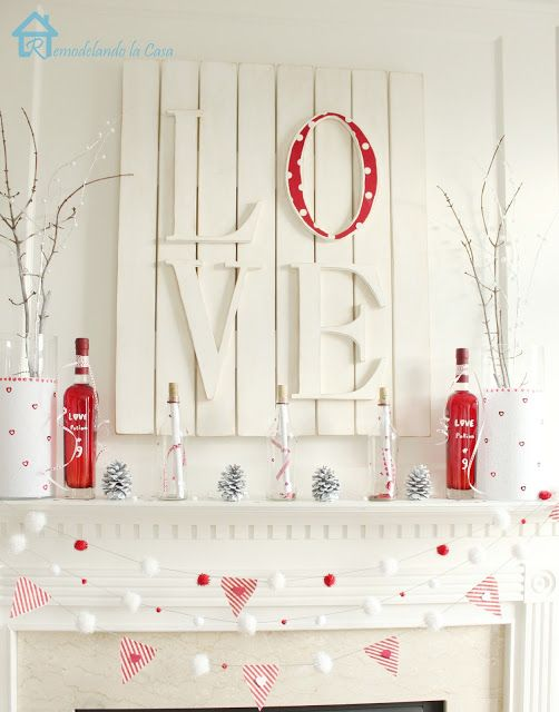 Valentine S Day Mantel Diy Valentine S Day Decorations Valentine S Day Diy Diy Valentines Decorations