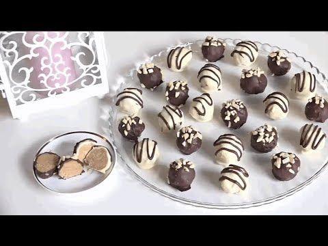 حلوى بدون فرن بثلاث مكونات اساسية فقط و في 5 دقائق سهلة و سريعة التحضير X2f حلويات العيد 2017 Youtube Arabic Food Macarons Food