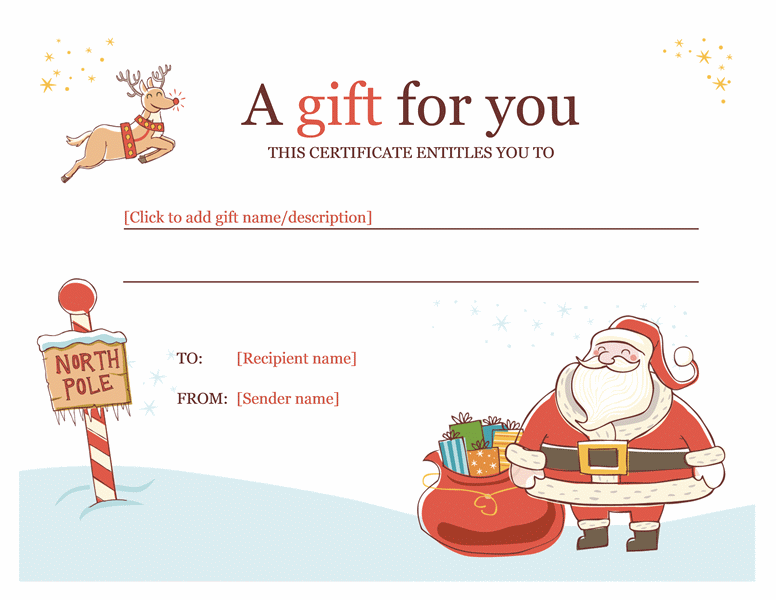 Christmas Gift Certificate Template Word 2010 Pretty Things