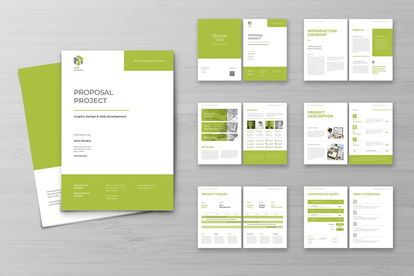 Proposal Template InDesign INDD, EPS. Download Proposal