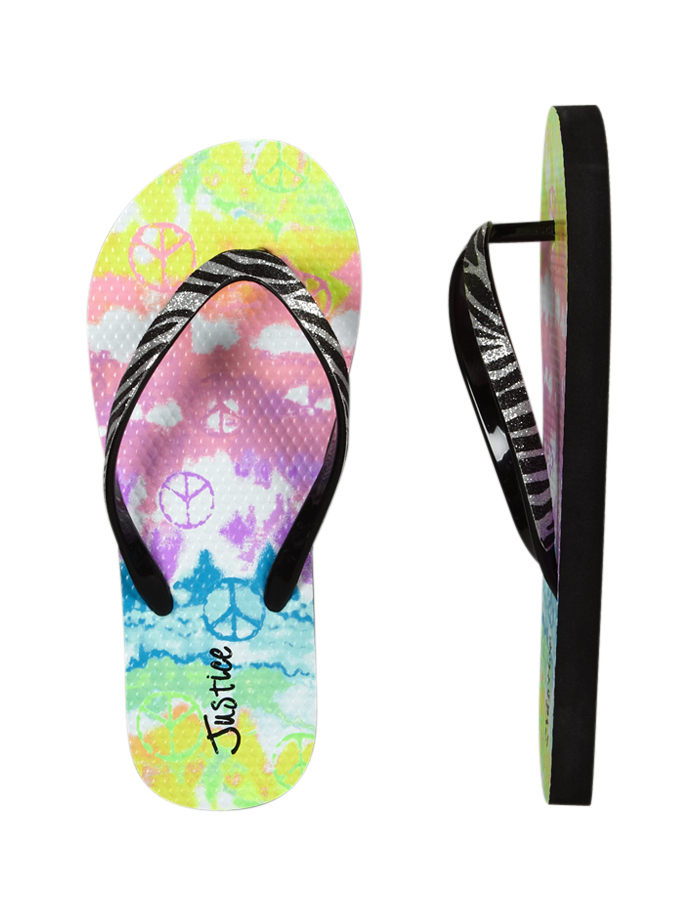 Zebra Dye Effect Flip Flops | Swim Accessories | Swim Trends | Shop Justice