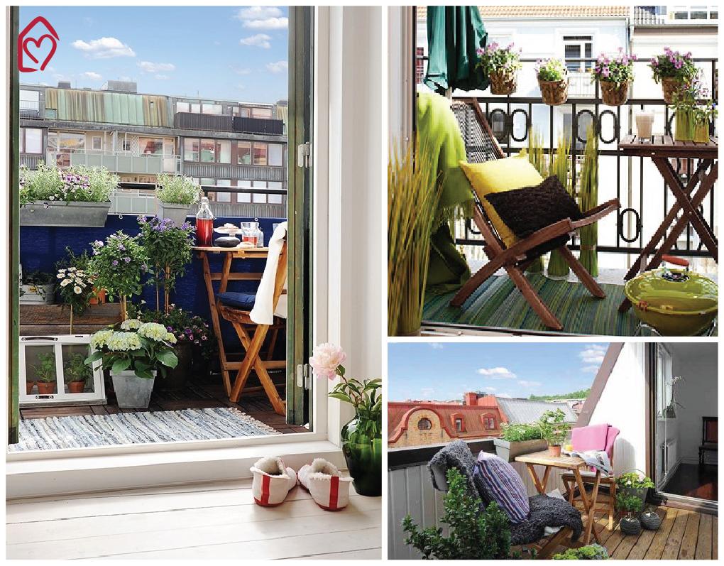 21 idee per arredare un piccolo balcone | IndoorOutdoor | Pinterest ...