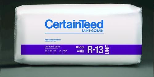 Certainteed 3 1 2 X 15 1 4 X 93 R 13 Unfaced Fiberglass Batts Covers 106 56 Sq Ft At Menards Fiberglass Batts Batt Certainteed
