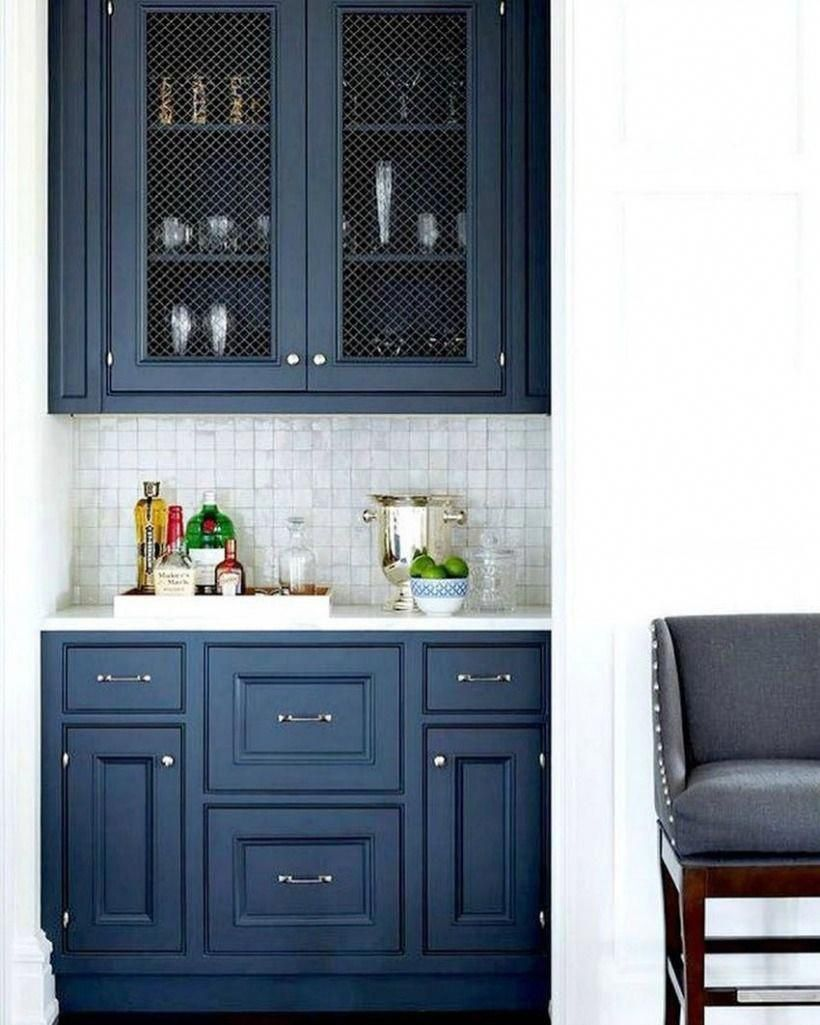 Benjamin Moore Hale Navy: The Best Navy Blue Paint Color | The Harper House #bluekitchen #halenavybenjaminmoore