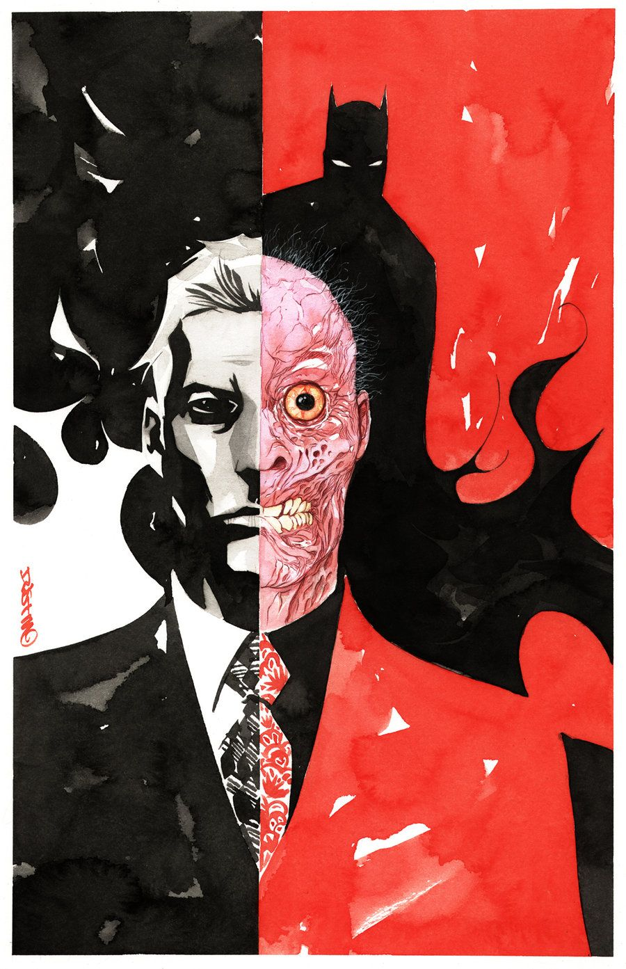 Two Face and Batman by Dustin Nguyen