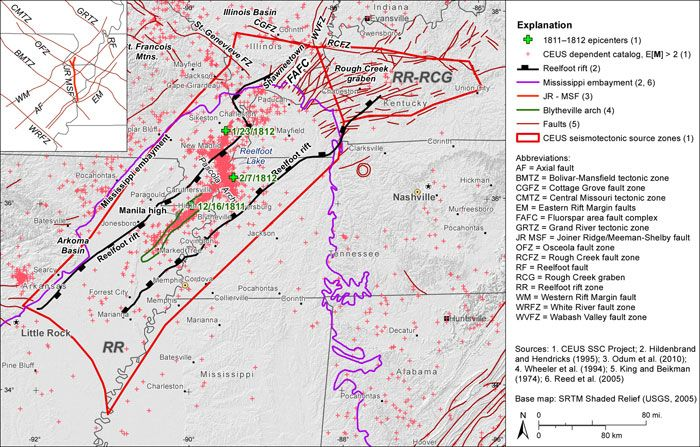 image of Oklahoma rift   CEUS-SSC - Chapter 7   Bardstown and ...