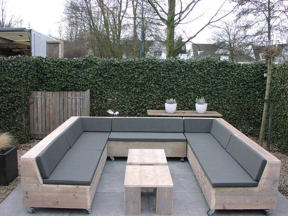 Gartentisch Terassentisch Sitzgarnitur Holztisch Banke Stuhle In