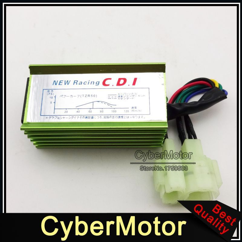 Green Racing 6 Pin AC Ignition CDI Box For GY6 50cc 90cc