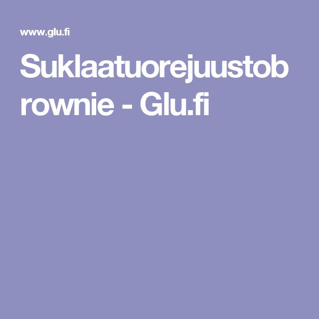 Suklaatuorejuustobrownie - Glu.fi