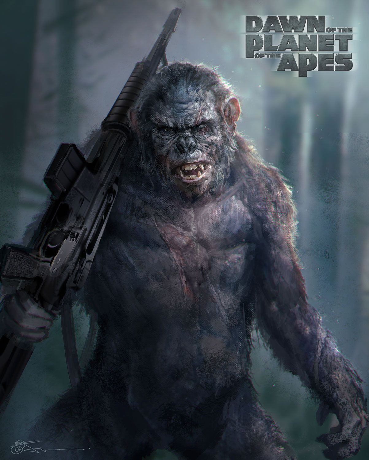 Koba Jeremy Chong Planet Of The Apes Dawn Of The Planet Koba