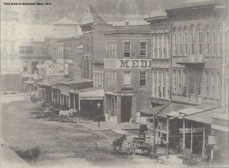 1874 Photo Of Third Street In Downtown Alton Illinois Alton Illinois Alton Old Pictures