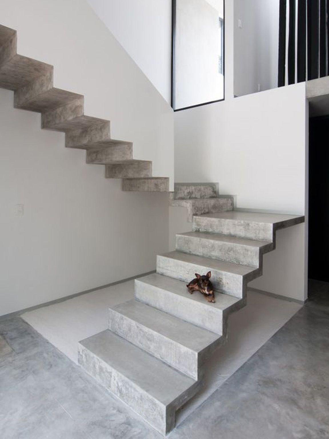 Moderno Scale Esterne In Muratura.Scala Cemento Continua Interni In Calcestruzzo Scale