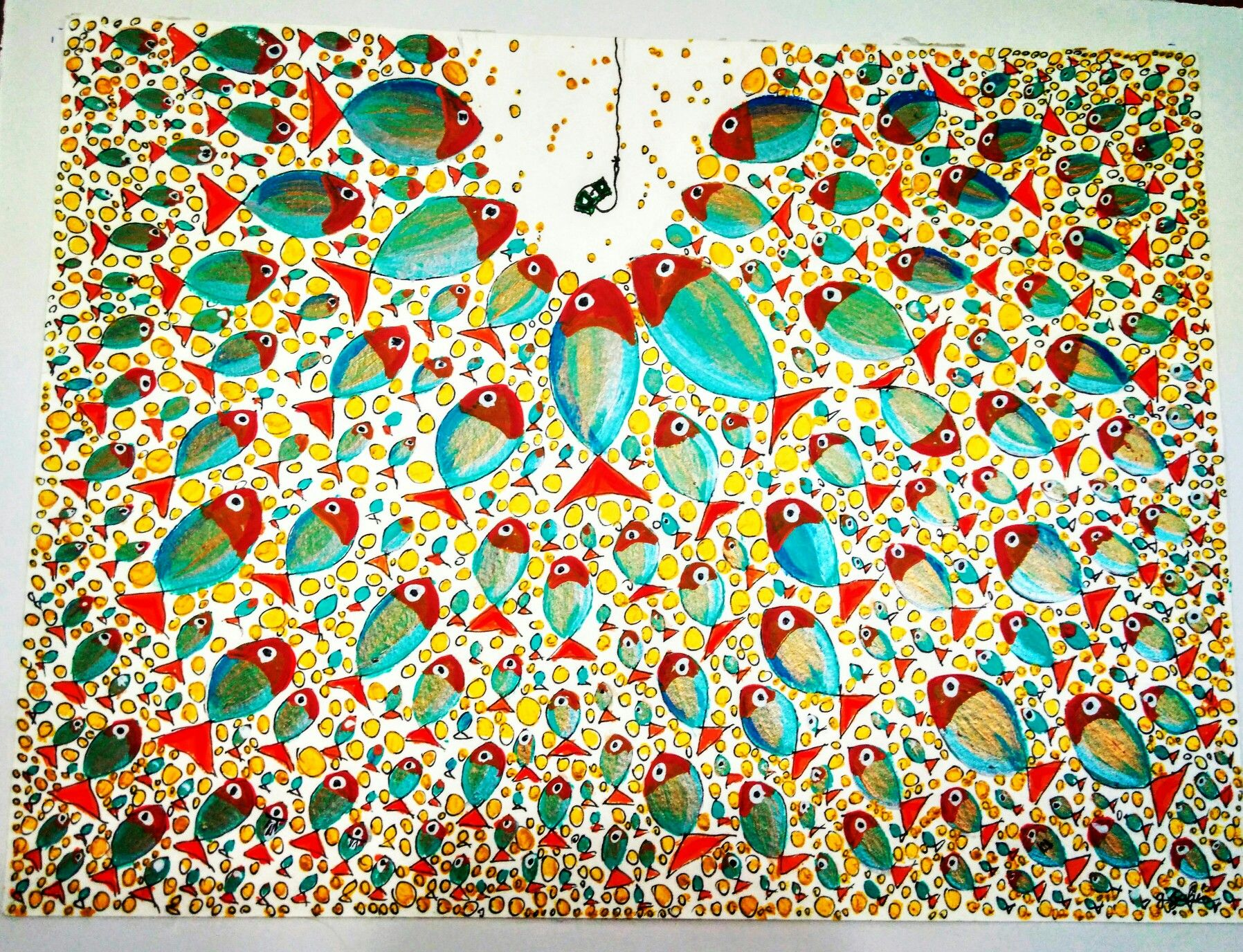 Art ceramic mosaic patchwork abstract mandala floral flowers turkuaz ...
