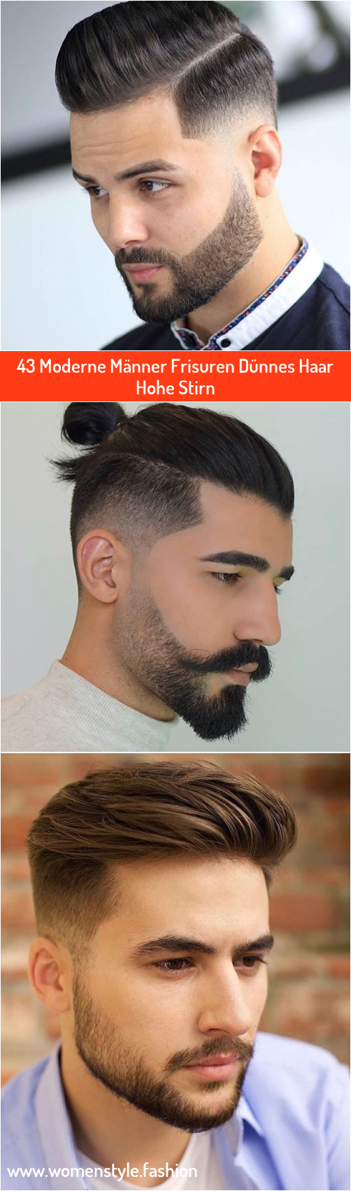 12 Moderne Männer Frisuren Dünnes Haar Hohe Stirn in 12