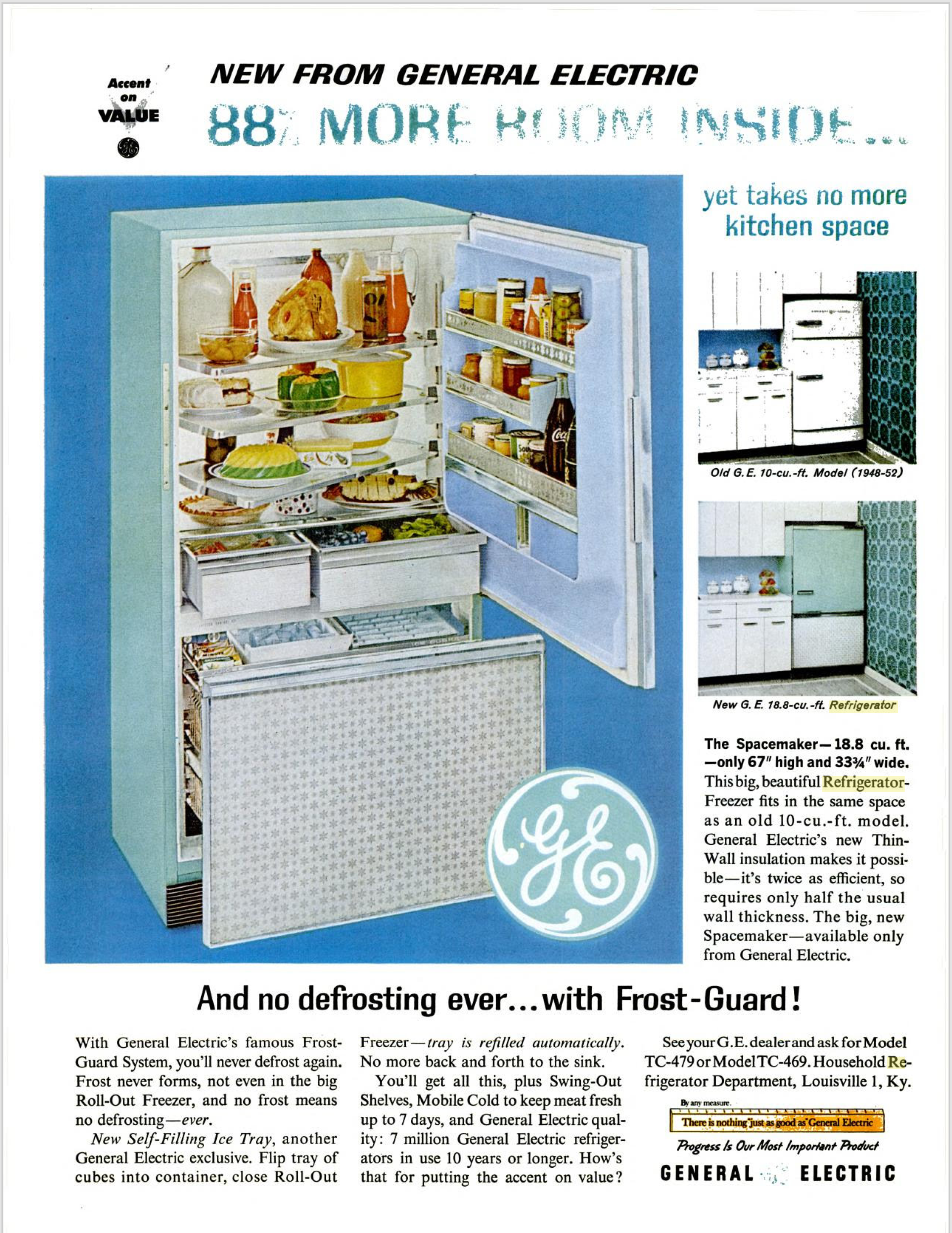 GE Refrigerator ad from Life Magazine July 1962. Finally! I found an ...